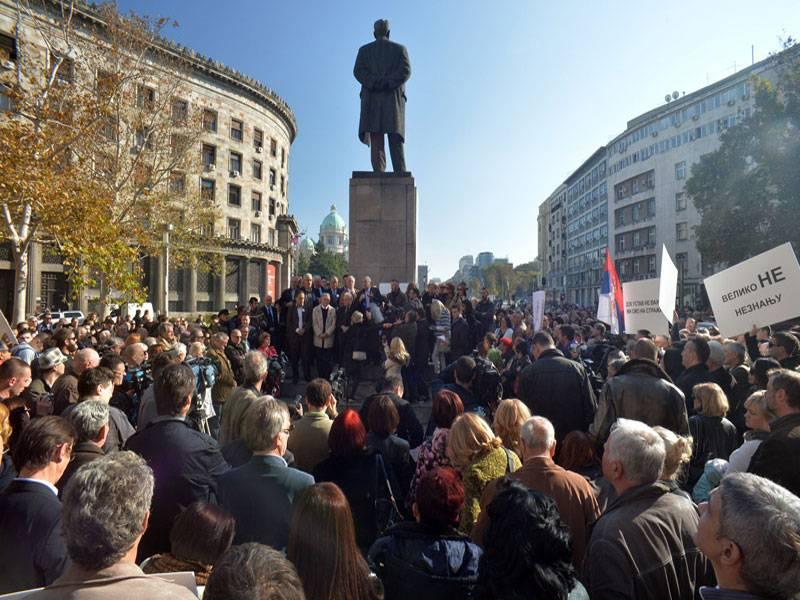 Video: Protest advokata Srbije
